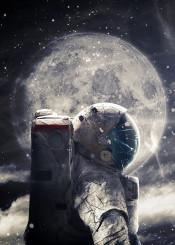 surrealism surreal digital digitalart design graphicdesign astroanaut moon illustration
