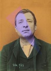 vintage photograph portrait photomanipulation man orange