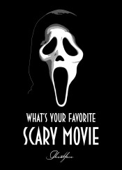 ghostface horror thriller scream 90s movies knife serialkiller serial killer beegeedoubleyou black grey white quote quotes saying sayings