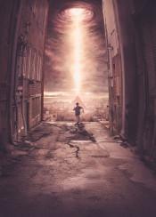 opening sky clouds pyramid alien invasion life running boy city dramatic futuristic future street alleyway light