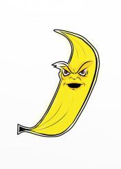 banana yellow angry fruit funny humour street urban