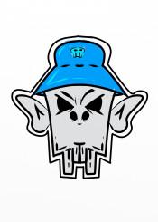 skull hiphop rap bboy retro graffiti skelaton kangol
