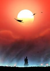 dunkirk worldwar2 war battle british french german plane supermarine spitfire navy military nolan sunset