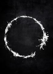 arrival alien language splat splatter white black movie symbol logo grunge distressed fandom circle