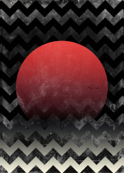 sun illustration geometry mood texture circle red black white waves