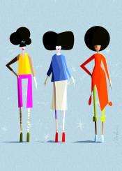 blackgirlmagic melanin afrochic afro hair girlboss femaleart colorful fashion chic