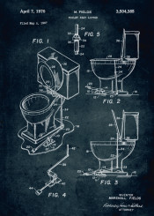 276 1967 toilet seat lifter inventor fields bathroom resroom vintage patent patents patentart