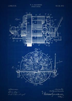 Vintage patents blueprint edition by nerdiful art displate vintage patent patents rotary engine invention inventions blueprint blueprints blue classic mechanical drawing mechanic machine macomber malvernweather Choice Image