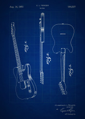 vintage patent patents blueprint blueprints blue print invention inventions guitar music musical instrument instruments fender electricguitar electric rock roll rockandroll