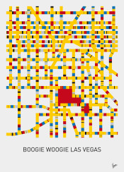 minimal minimalist design mondriaan victory boogie woogie chungkong city map amsterdam berlin london los angeles melbourne mos eisley moscow new york paris sydney stijl 1920s vintage citymap red yellow blue street streetplan affiche las vegas