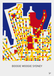 minimal minimalist design mondriaan victory boogie woogie chungkong city map amsterdam berlin london los angeles melbourne mos eisley moscow new york paris sydney stijl 1920s vintage citymap red yellow blue street streetplan affiche