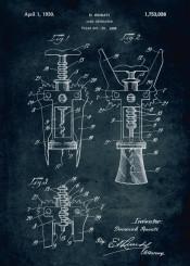 290 1928 cork extractor inventor rosati wine red white blue vintage patent patents kitchen patentart