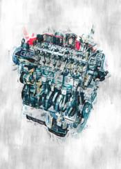 audi engine sketch