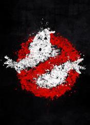 ghost busters splat splatter white red black paint grunge movie movies minimal minimalist buster symbol logo ghosts