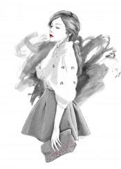 fashion illustration girl portrait