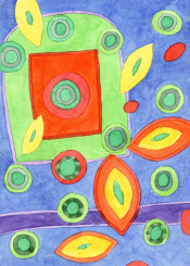 abstract painting geometric bright colors colorful happy fun explosion cool pattern watercolor