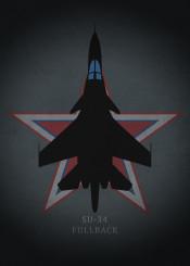 su34 fullback fighter jet bomber air force weapon war plane airplane combat jetfighter dark black