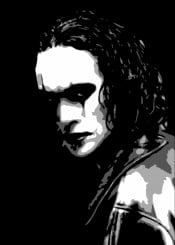 crow thecrow brandon lee brandonlee bruce brucelee dark gotic black grey white movies 90s beegeedoubleyou quote quotes sayings