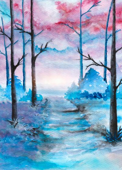 Marco  Gonzalez Watercolor paintings   Displate Prints on Steel