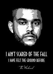 theweekend scared fall ground quote quotes saying sayings beegeedoubleyou black grey white hiphop urban rnb