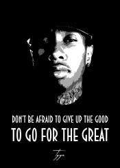 tyga traww urban hiphop rnb beegeedoubleyou black grey white quote quotes sayings saying