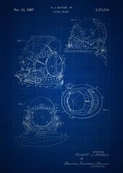vintage patent patents blue blueprint blueprints diving helmet scuba deep sea diver invention inventions classic