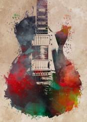 music musican guitar guitars guitarist bass accoustic jbjart decor instrument decoration illustration