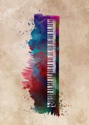 keyboard keyboards music piano musican digital jbjart watercolor instrument decor decoration illustration