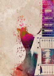 guitar guitars music guitarist instrument instruments decor decoration illustration