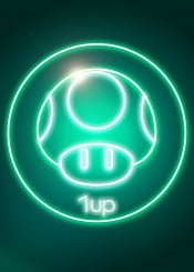 1up life mario bros toad mushroom mushrooms greenmushroom green light greenlight neonlight neonlights peach wario luigi neon retro arcade 90s 80s retrogaming bright geek nerd mariobros pixel pixels artdeco neondeco neonposter videogames videogame video games game gaming gamer