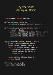 quick sort efficient algorithm code coder programmer python language programming