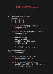 heap sort efficient algorithm code coder programmer python language programming