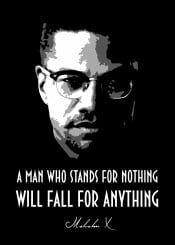 Malcolm X Malcolmx History Legend Stands Love Nothing Fall Anything Beegeedoubleyou Martinlutherking Black Grey White Quote