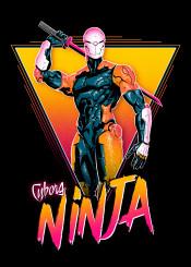 metal gear solid snaje gray fox ninja 80s retro neon robot video games big boss