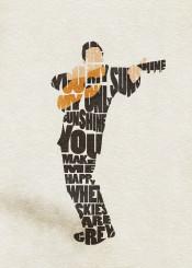 johnny cash music lyrics typography gift song guitar sunshine quote inspiring