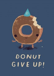 donut donuts doughnut doughnuts pun puns give never dont food cute funny chocolate