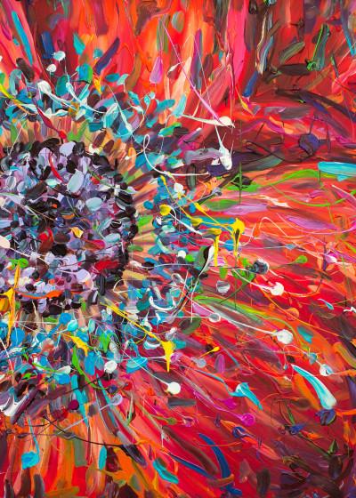 Bella  Schick FLOWER Paintings   Displate Prints on Steel