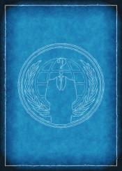 anonymous hacker blue print