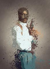lethal weapon roger murtaugh splatter effect artwork