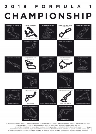 Chungkong Art My F1 Racetrack Posters   Displate Prints on Steel