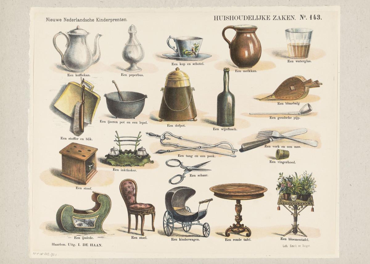 Image of Vintage Furniture Illustration