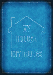 my house rules illustration blueprint