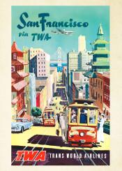 vintage,travelposter,travel,america,sanfrancisco