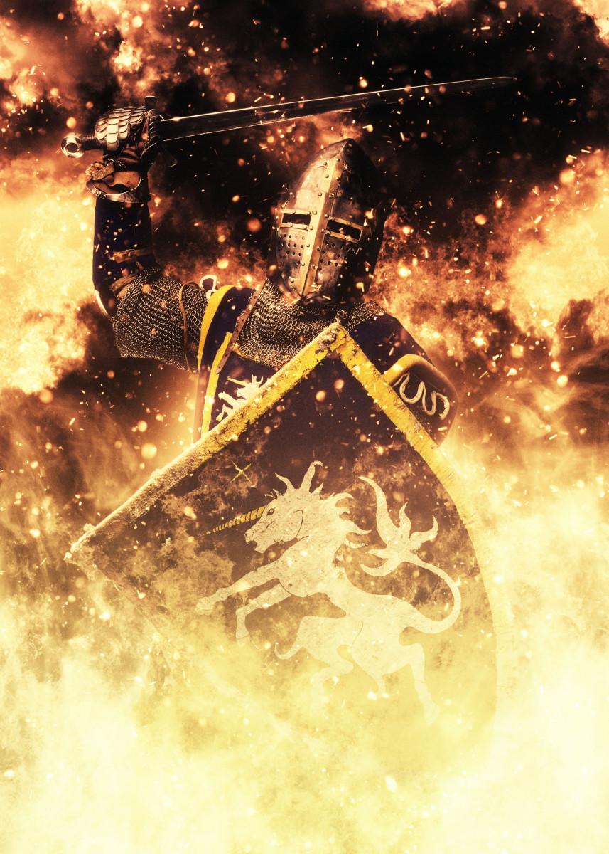 Fiery Medieval Knight 335454