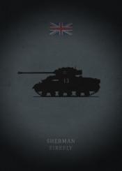 sherman firefly tank panzer weapon armor england great britain war dark black