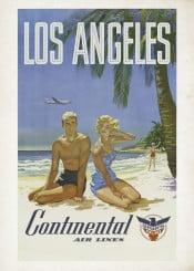 poster,vintageposter,travel,losangeles,america