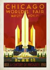 vintage,poster,travel,travelposter,chicago,usa
