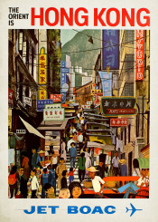 vintage,poster,travel,travelposter,china,hongkong