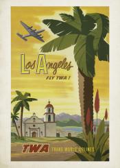 vintage,poster,travel,travelposter,losangeles,usa