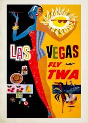vintage,poster,travelposter,travel,lasvegas,usa